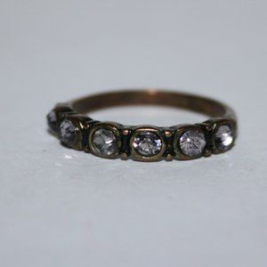 Beautiful bronze and cz ring size 7.5